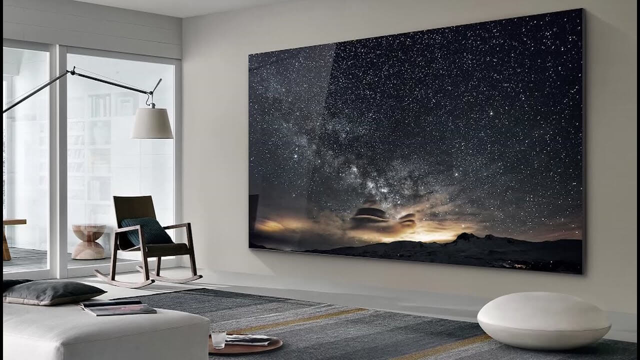 Samsung's new 110 inch MicroLED 'Wall' Television