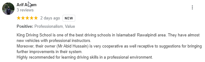 KING DRIVING SCHOOL - Review