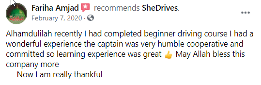 SHE DRIVES - Review