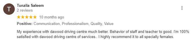 DAWOOD DRIVING CENTRE - Review